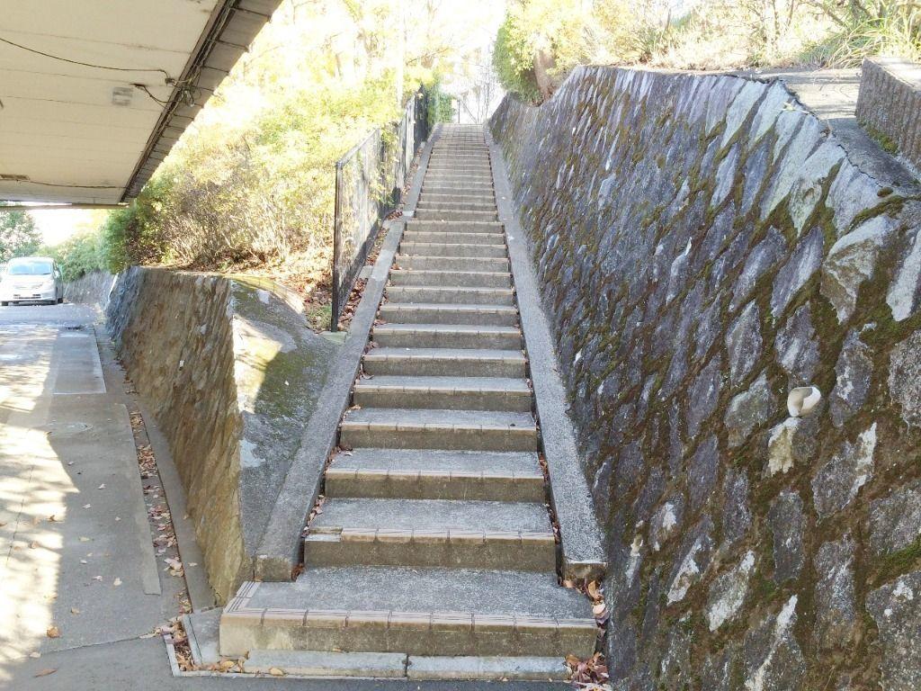 たまプラーザ団地の管理組合横の階段