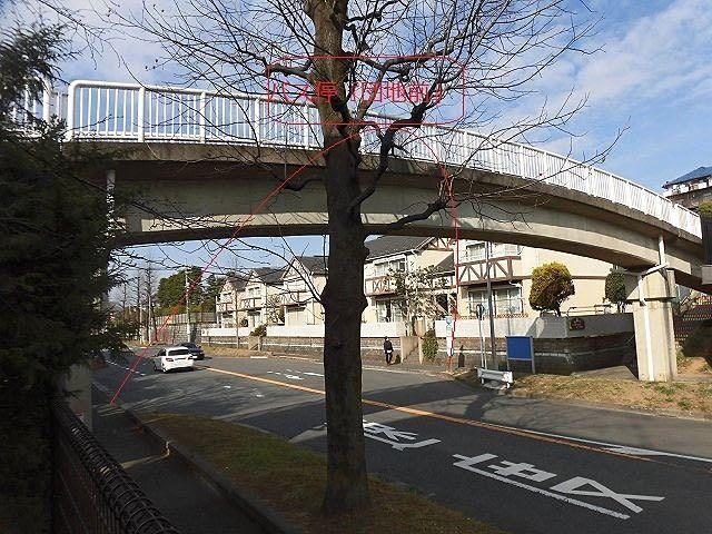 たいこ橋のふもと 東急バス停『団地前』