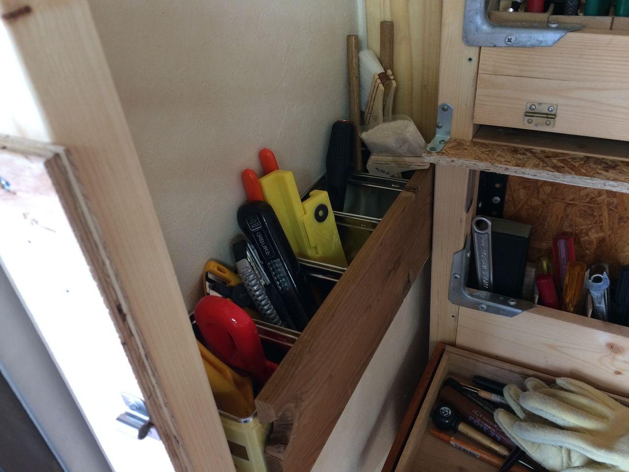 クーパーズ不動産のDIY工具収納コーナー