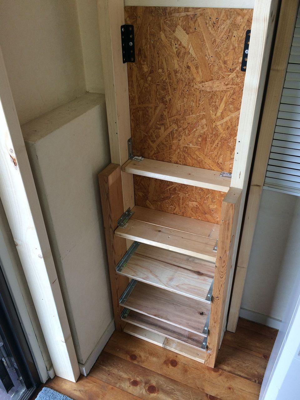 クーパーズ不動産のDIY工具収納コーナーの棚