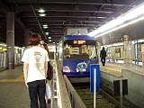 世田谷線の終点「下高井戸」駅の様子