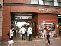 世田谷線「三軒茶駅」乗り場