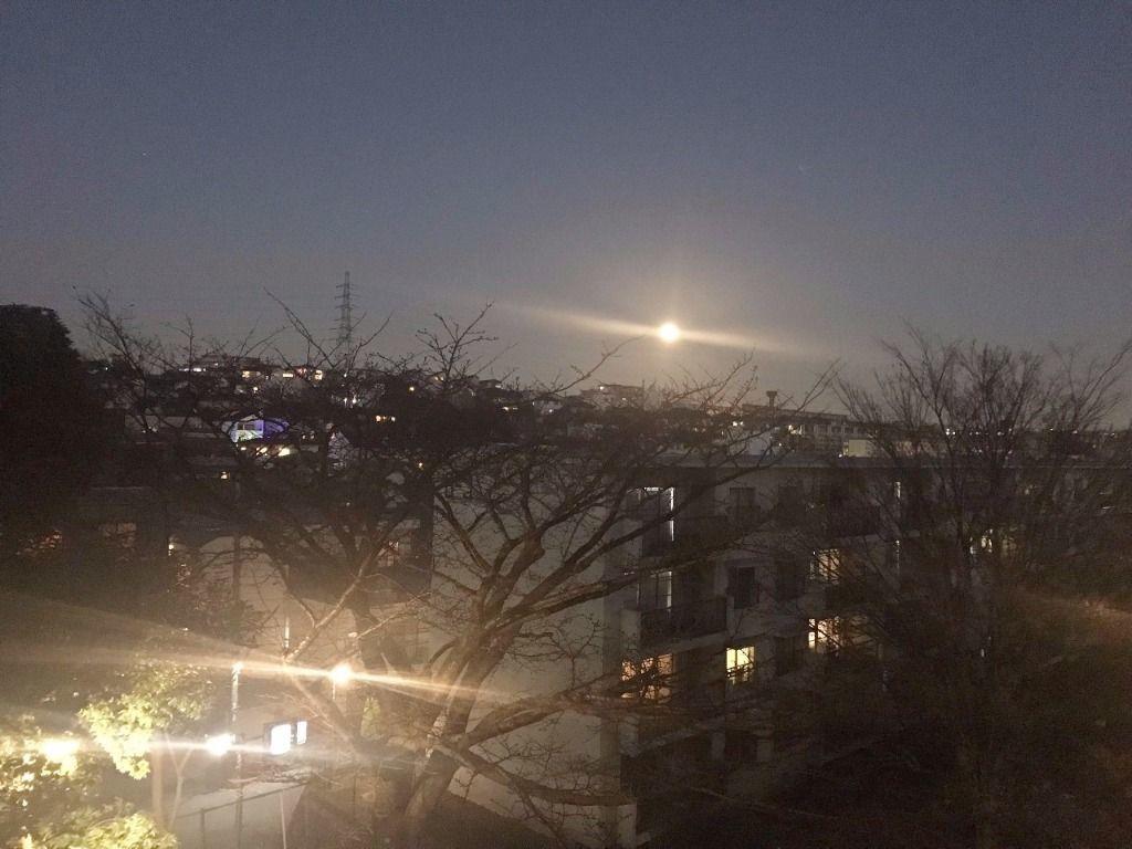 たまプラーザ団地から見たお月様