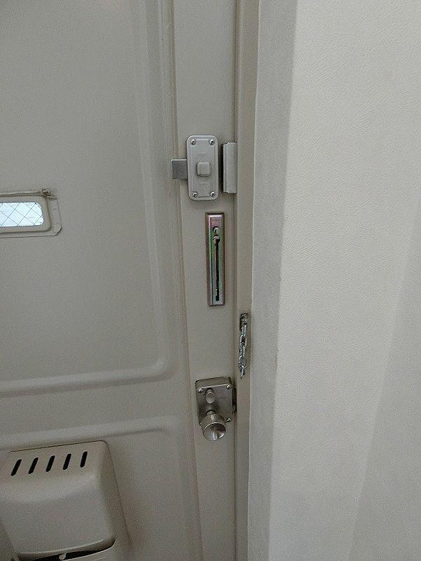 たまプラーザ団地の玄関チェーン・ロック