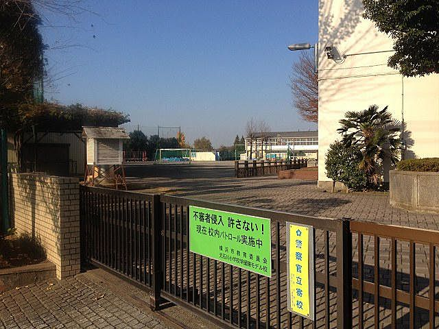 元石川小学校の外観