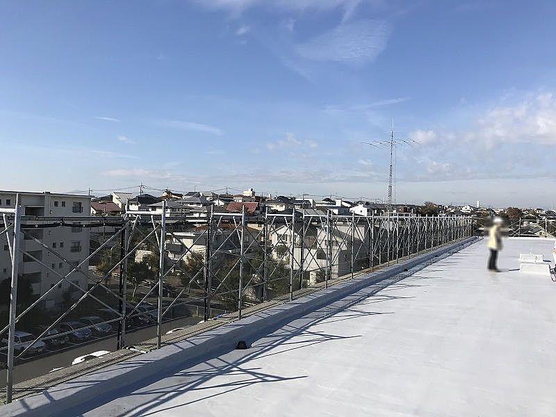たまプラーザ団地の屋上からの西側の眺望