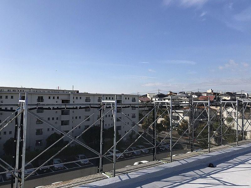たまプラーザ団地の屋上からの南側の眺望