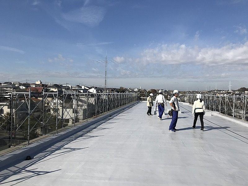 たまプラーザ団地の屋上からの眺望