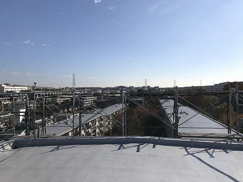 たまプラーザ団地の屋上からの東側の眺望