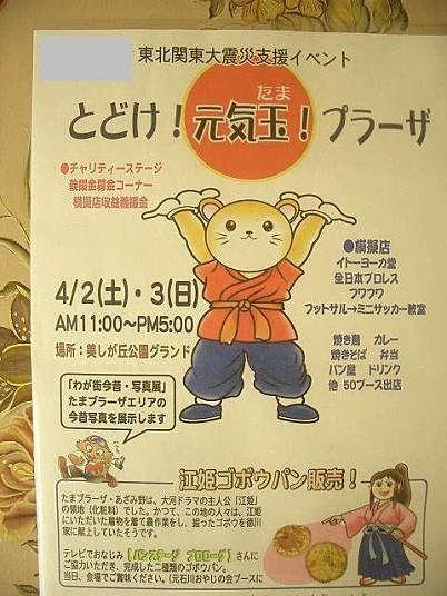 東北関東大震災支援イベント「とどけ!元気玉!プラーザ」の様子です。