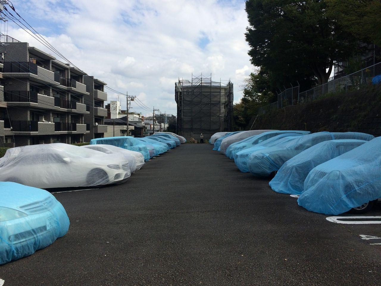たまプラーザ団地の駐車場