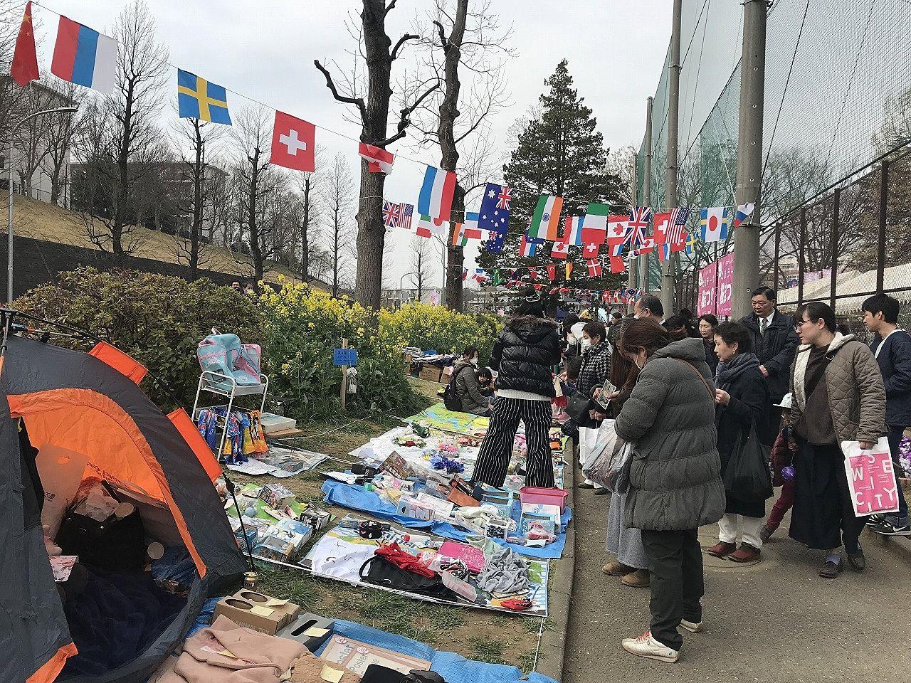 2019年たまプラーザ桜まつり(たまプラーザ桜フェスティバル)のフリーマーケット