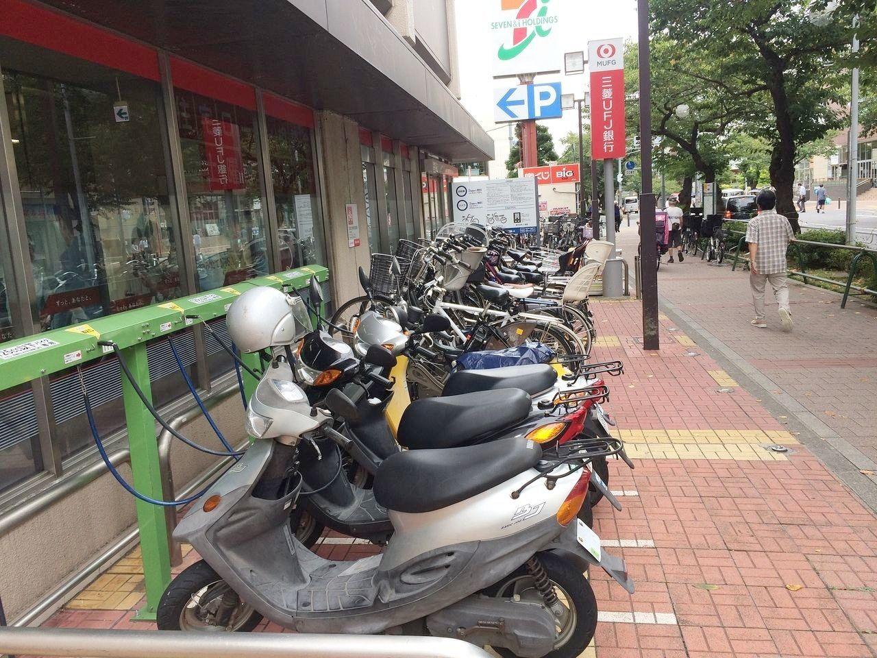 イトーヨーカドー・三菱銀行の駐輪場