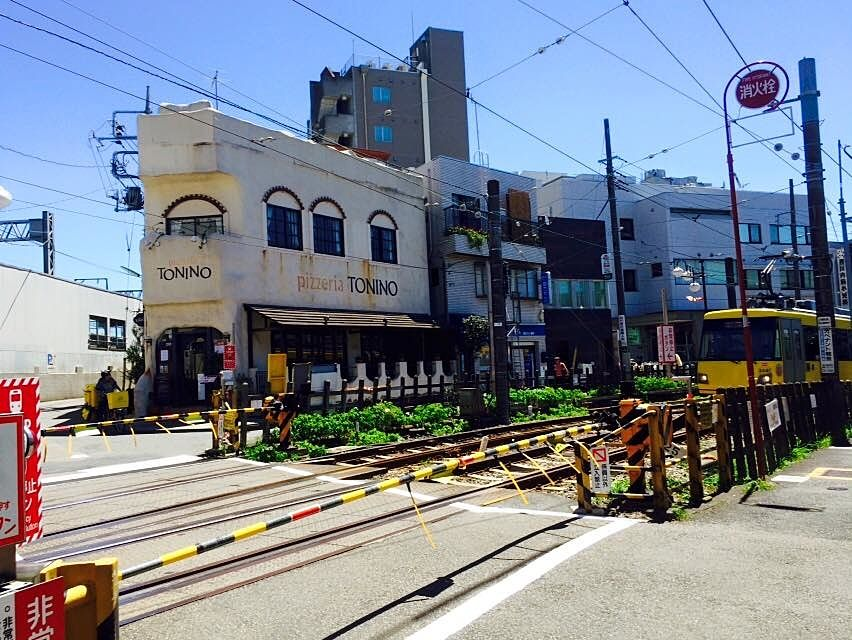 世田谷線「下高井戸」駅 の踏み切