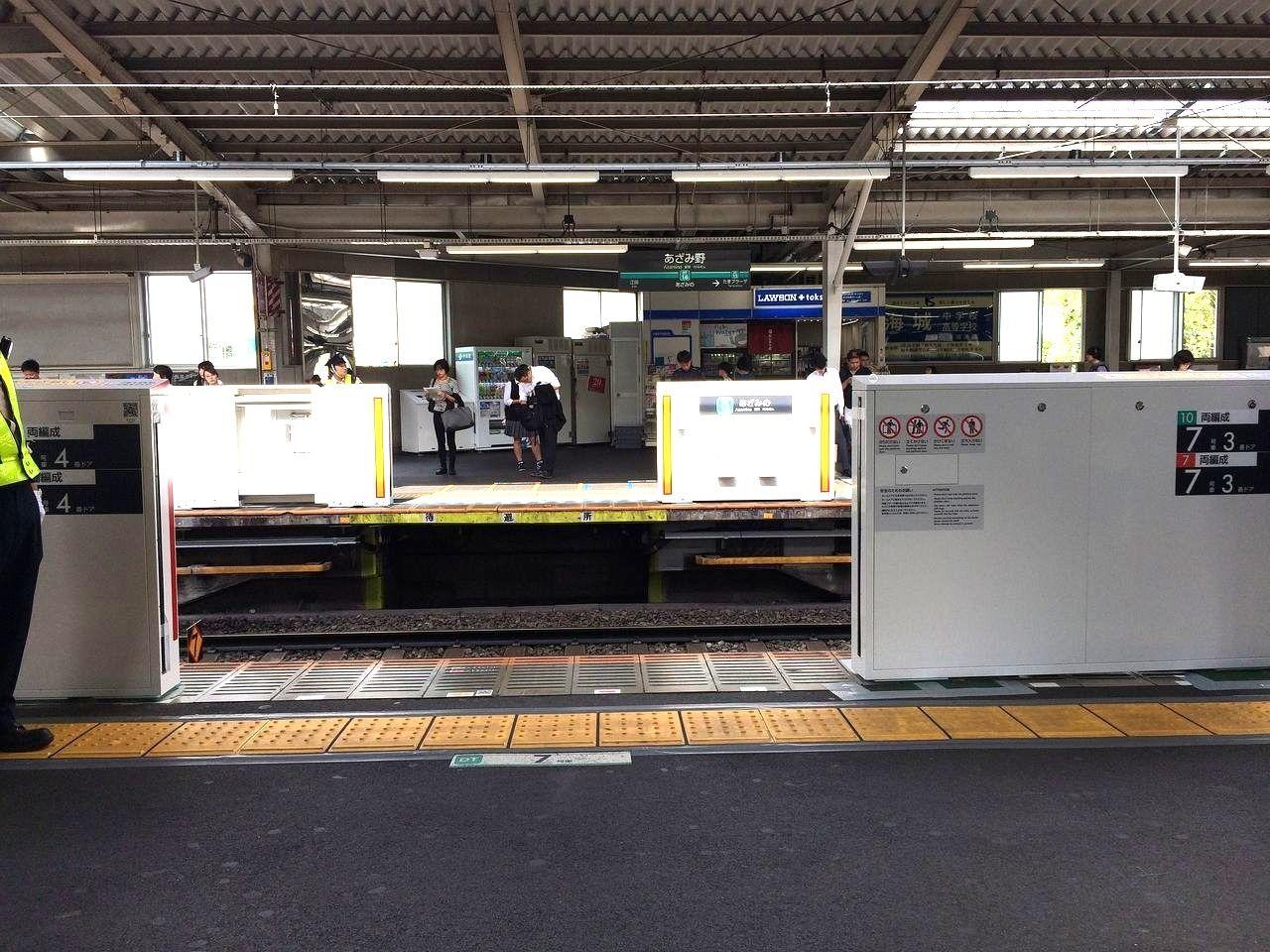 あざみ野駅のホームドアー≪2018年8月21日(火)≫