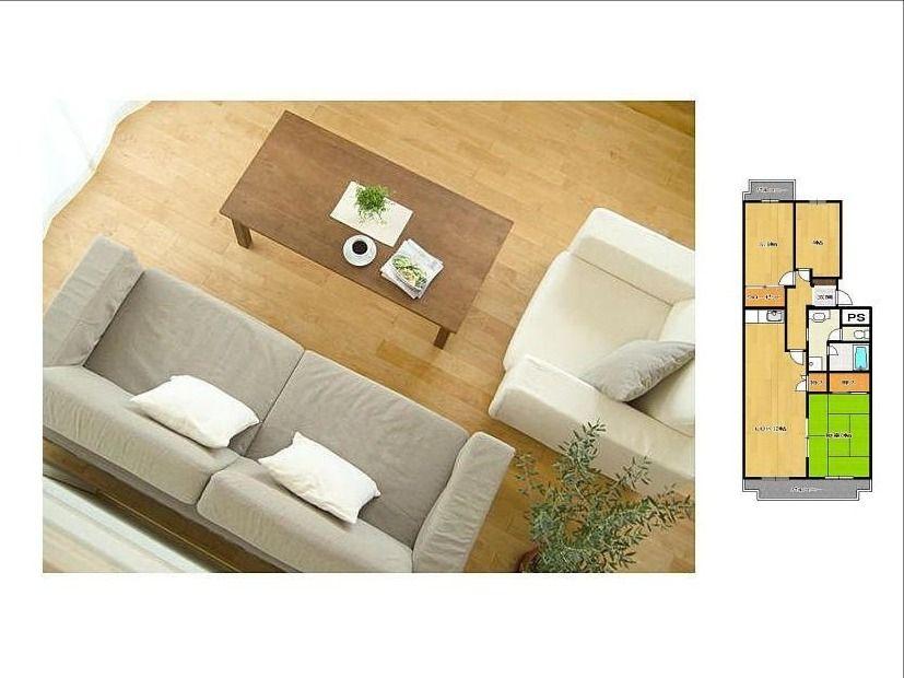 空室対策(内見用の家具の配置)
