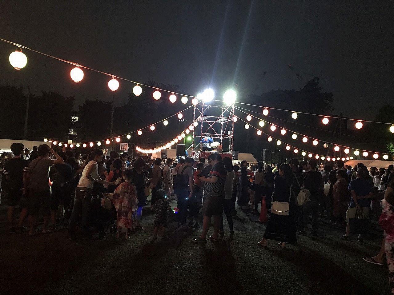 2017年たまプラーザ夏まつり 美しが丘公園 盆踊り会場