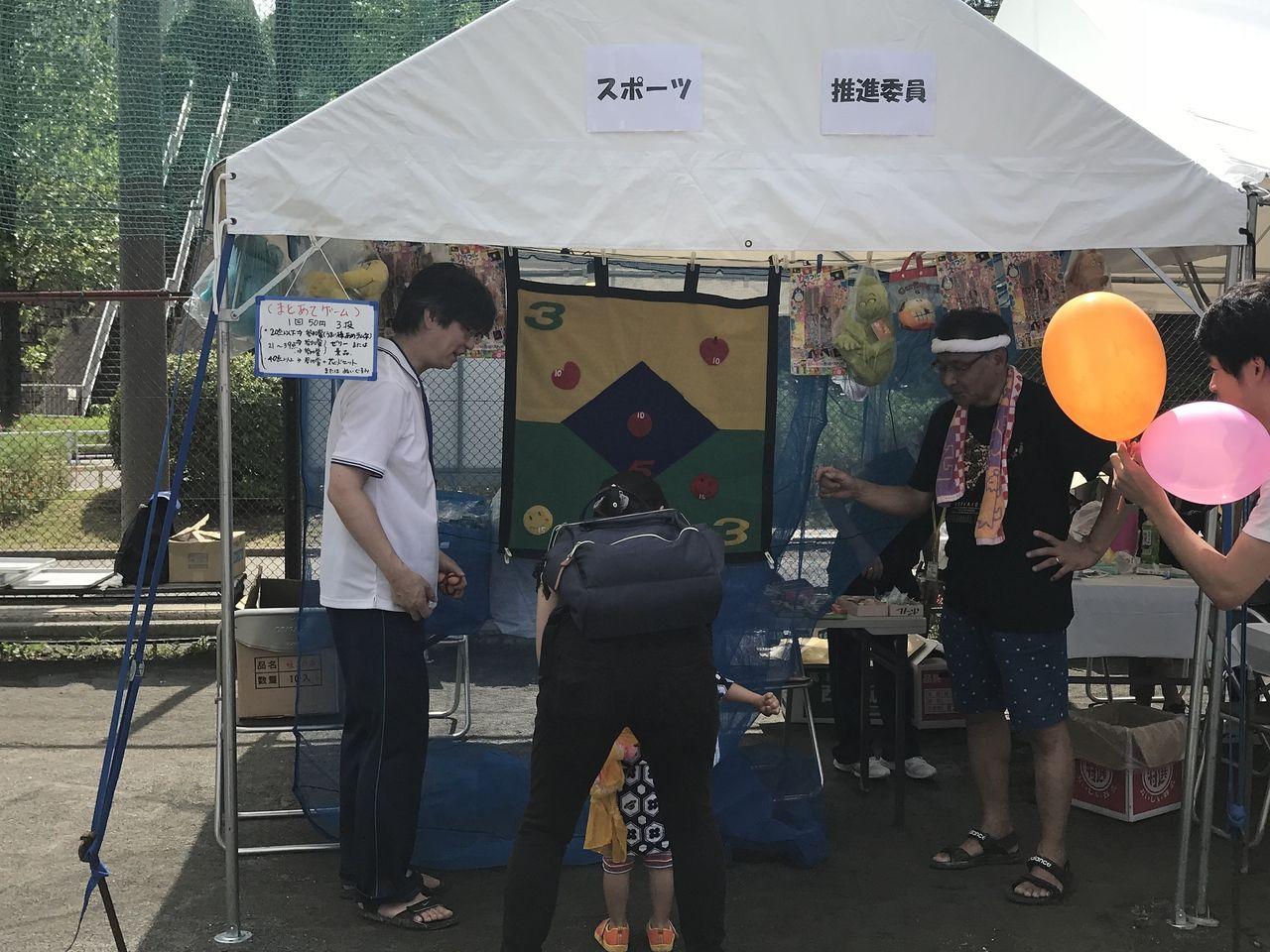 2018年たまプラーザ夏まつり・盆踊り会場・スポーツ推進委員
