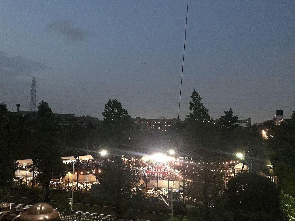 2019年たまプラーザ夏まつり盆踊り会場の様子です。