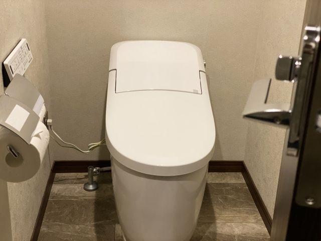 最近の一体型の便器に交換したトイレ