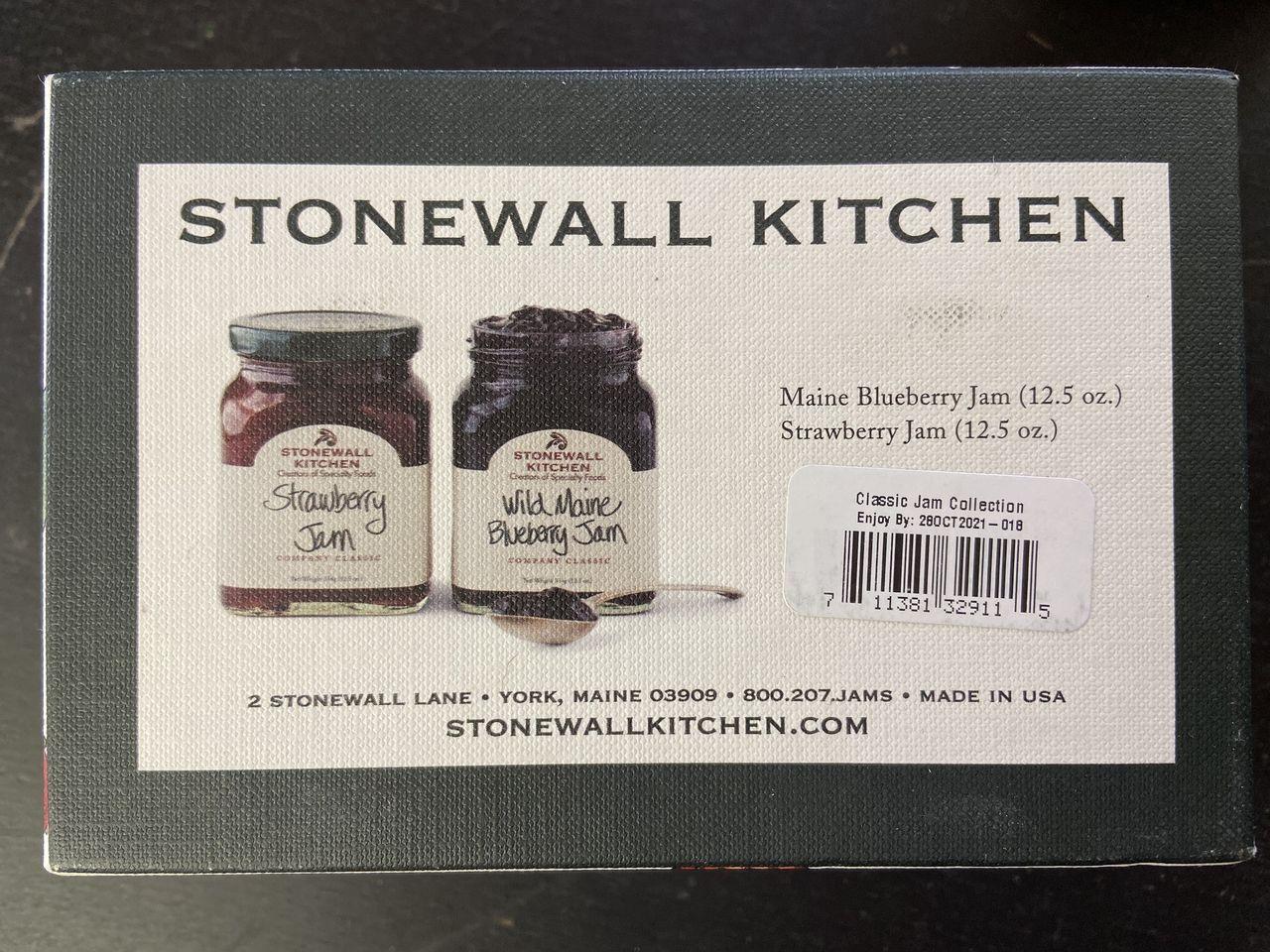 Stonewall Kitchen ストーンウォールキッチン ストロベリージャム、354gとワイルドメインブルーベリージャム、12.5オンス