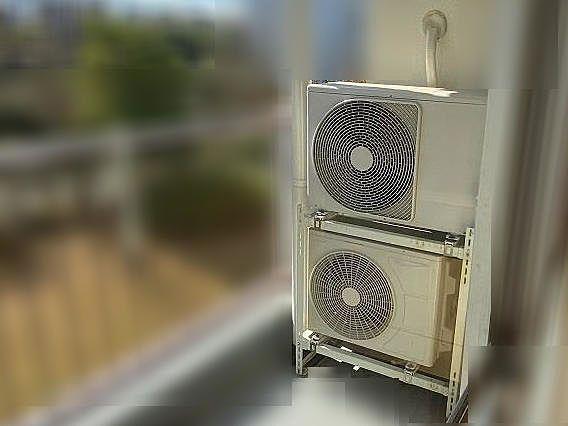 たまプラーザ団地のエアコン室外機設置