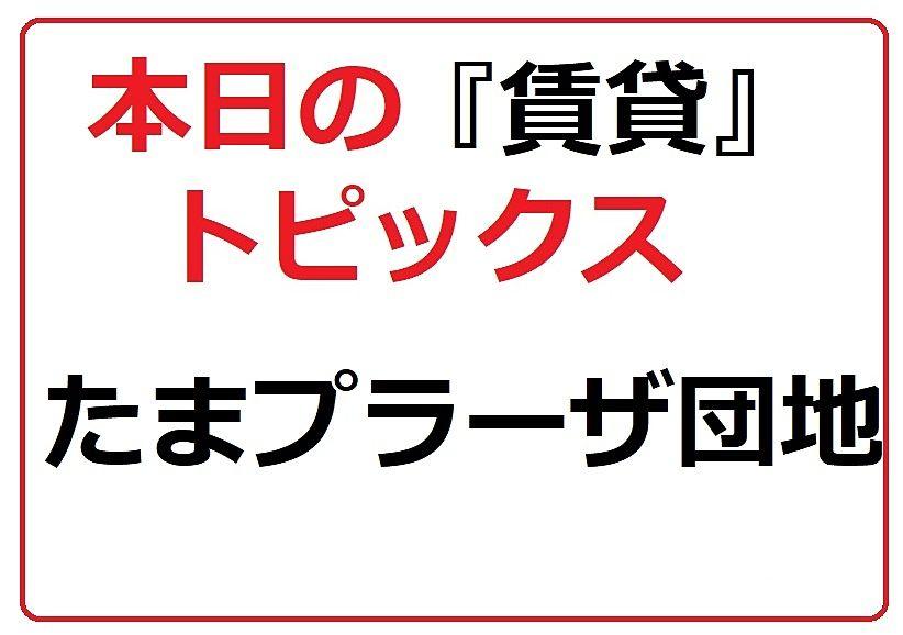 たまプラーザ団地『賃貸』/本日のトピックス