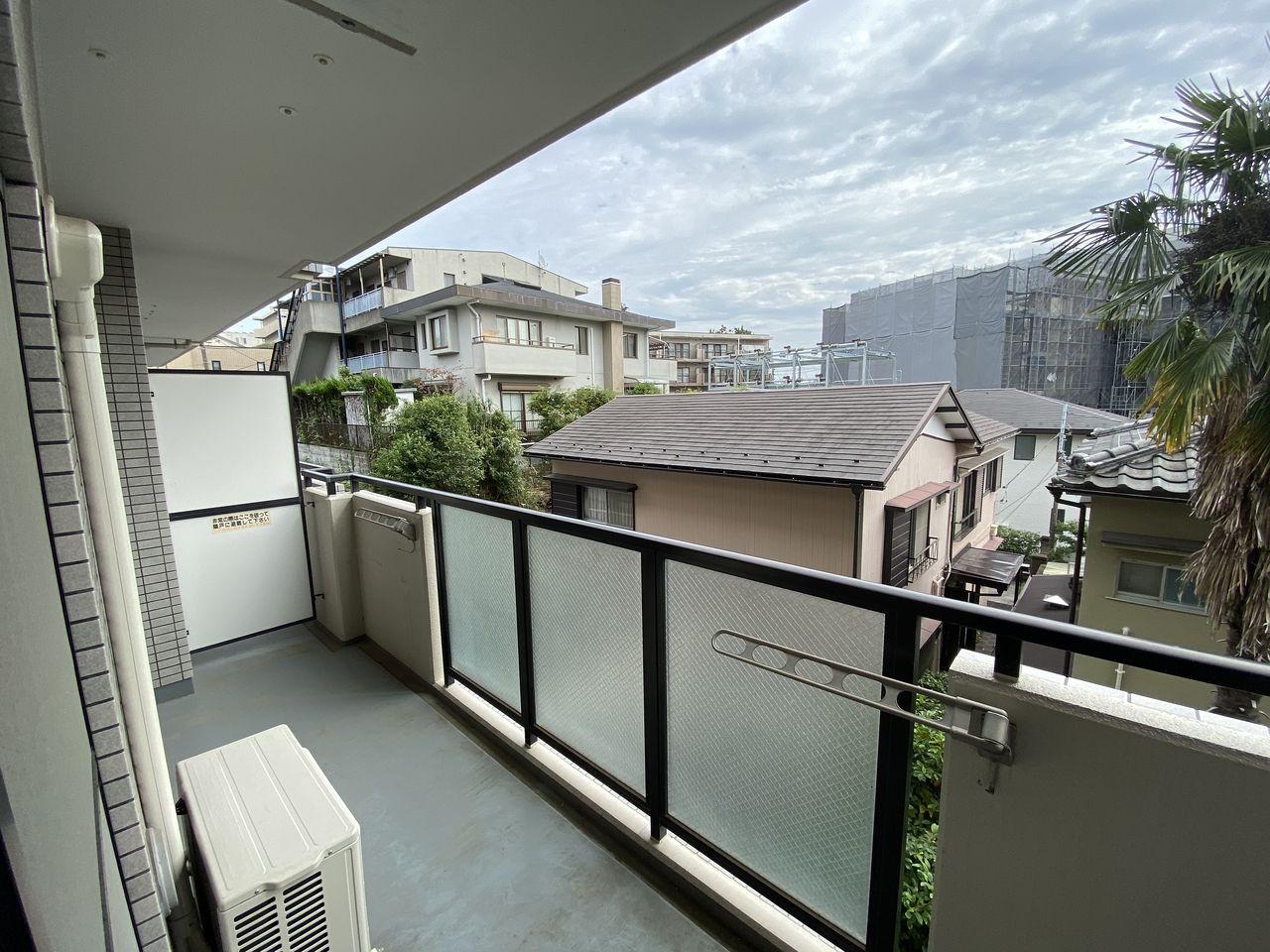 EV付たまプラーザ駅2分のマンションの第5正美ビルのバルコニーからの眺望