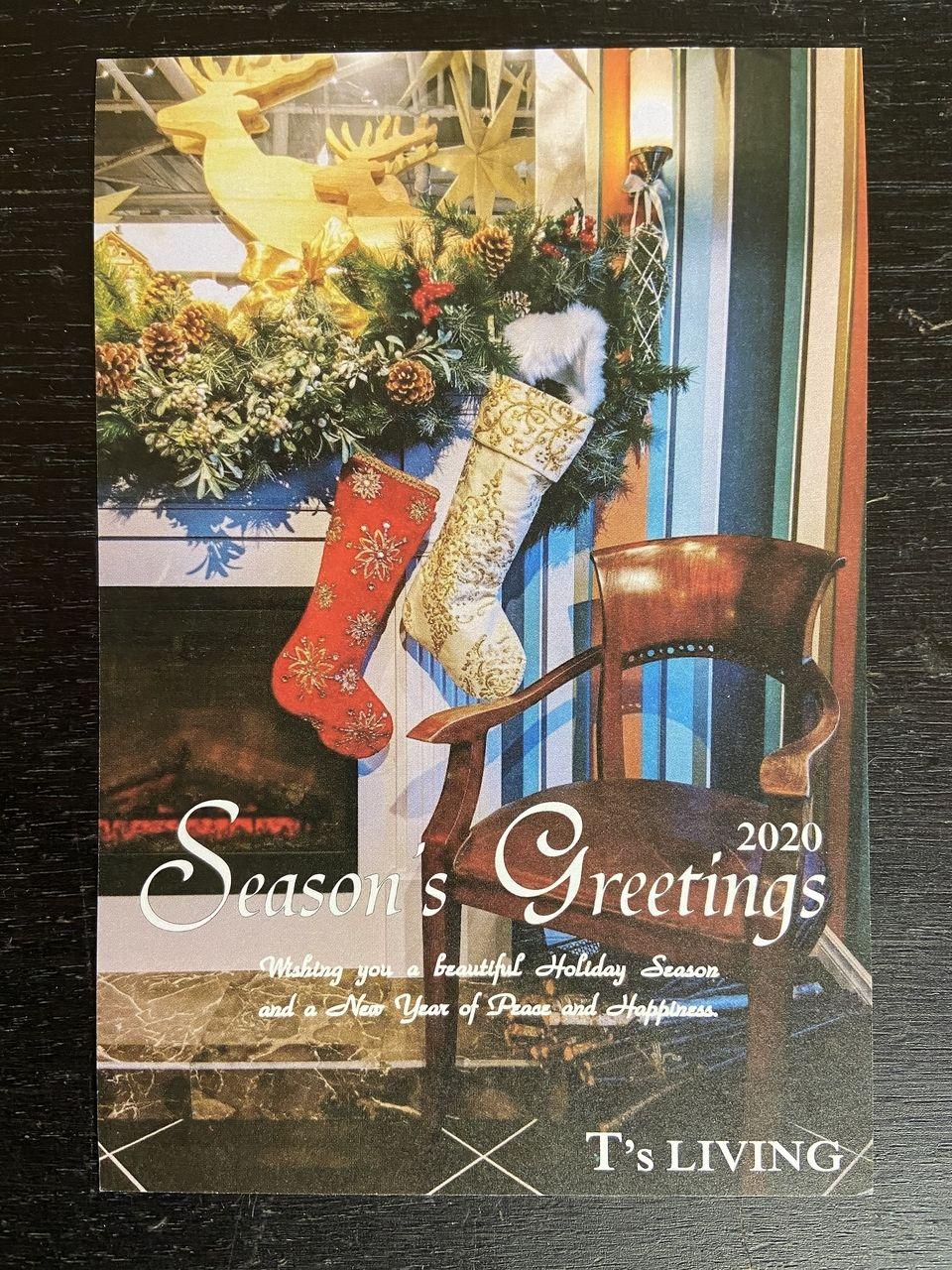 「ティーズリビング」T'sLiving様からいただいたクリスマスカード