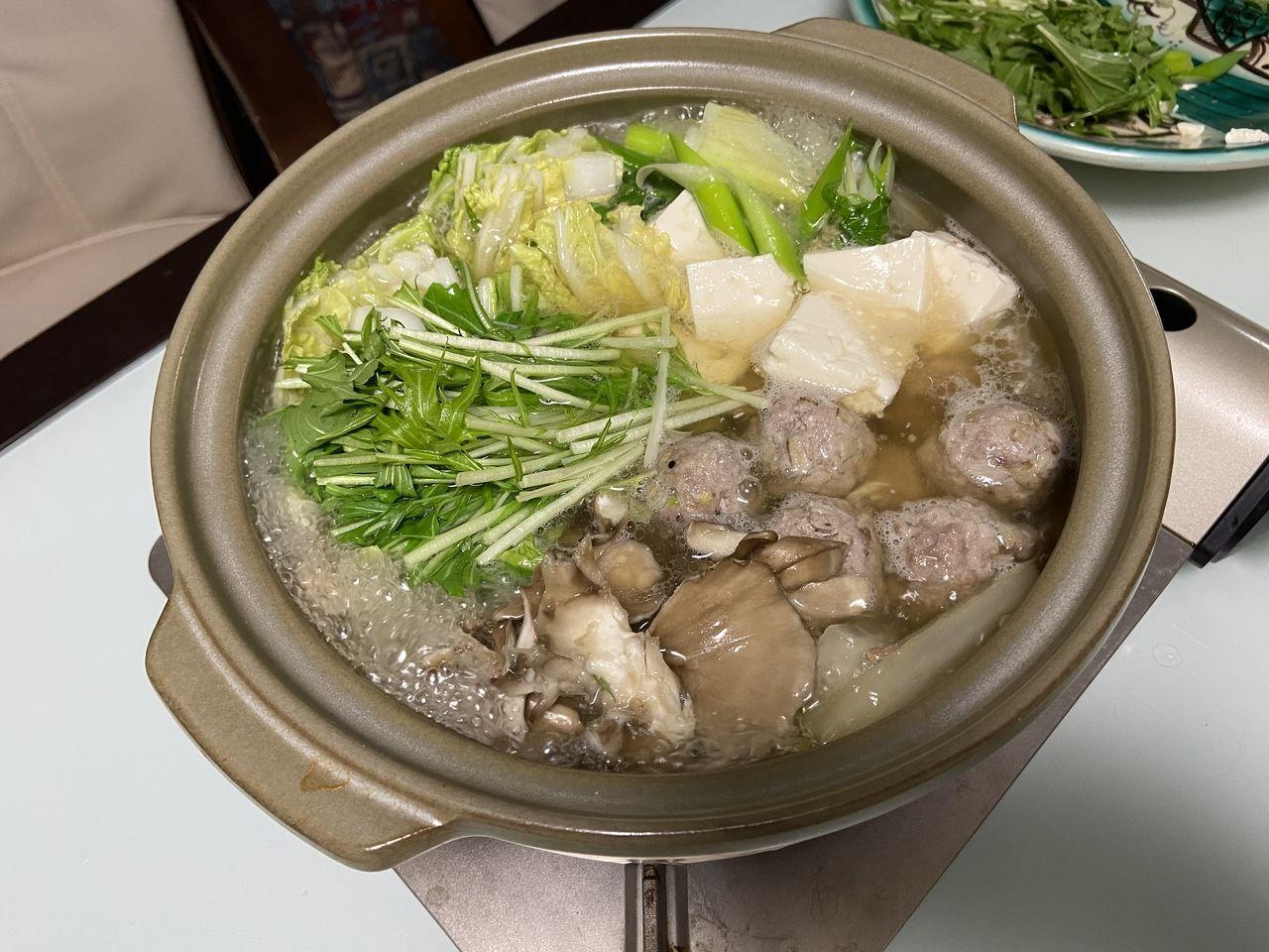 博多限定 茅乃舎 あごだしでお鍋を作りました。