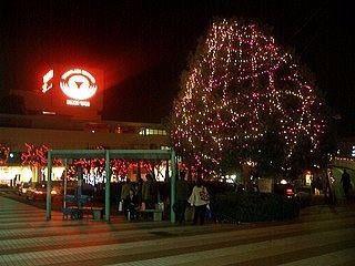 たまプラーザ駅のクリスマスツリー 2006年 たまプラーザ クリスマス